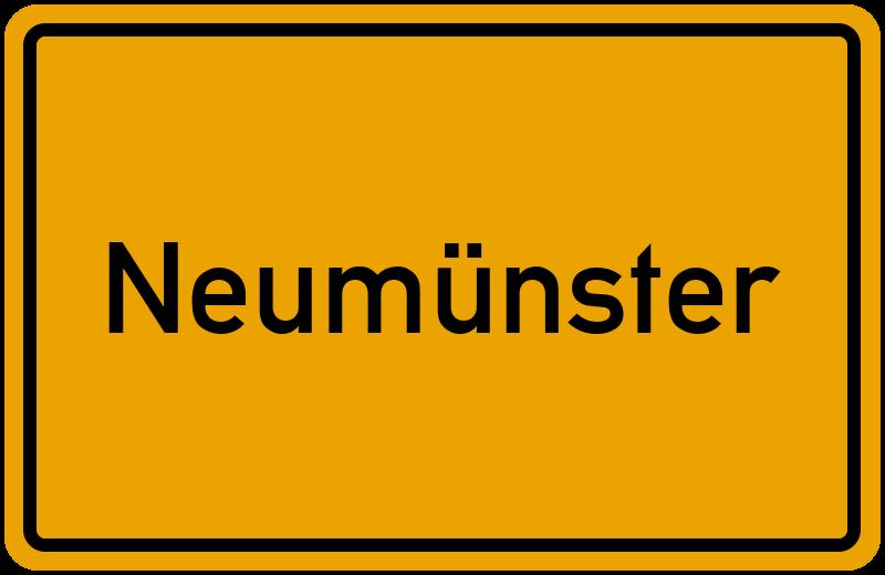 Ortsschild Neumünster