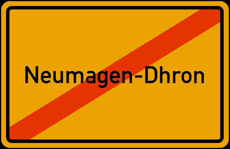 Ortsschild Neumagen-Dhron