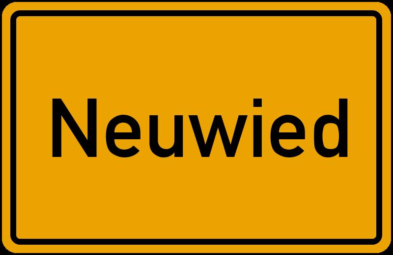 Ortsschild Neuwied