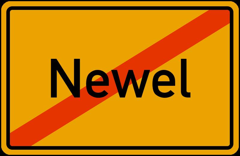 Ortsschild Newel