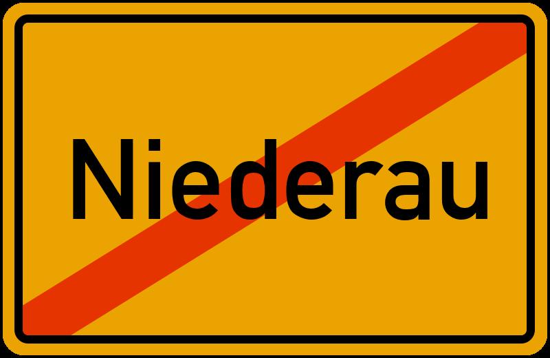 Ortsschild Niederau