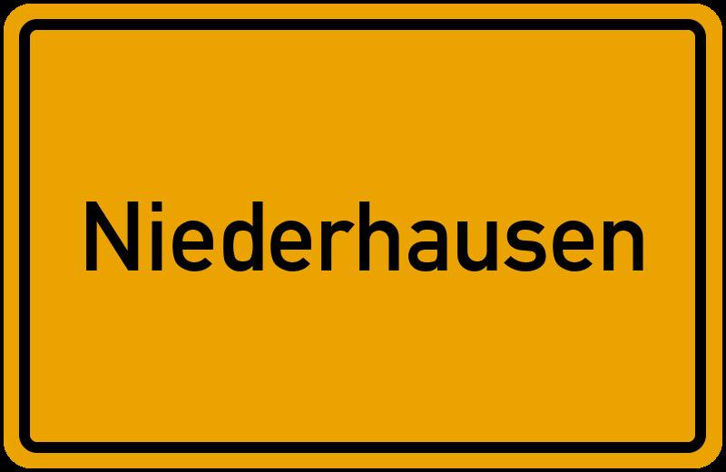Ortsschild Niederhausen