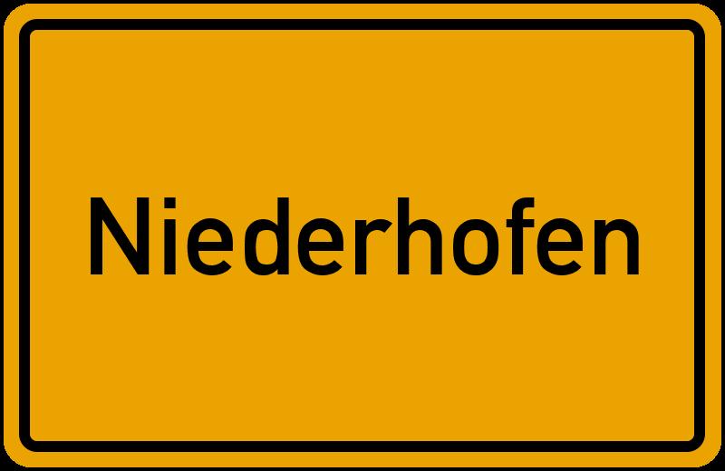 onlinestreet Branchenbuch für Niederhofen