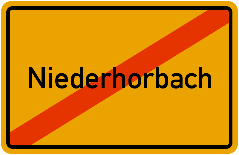 Ortsschild Niederhorbach