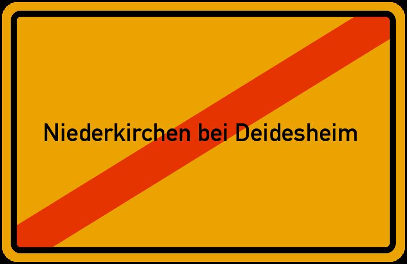 Ortsschild Niederkirchen bei Deidesheim