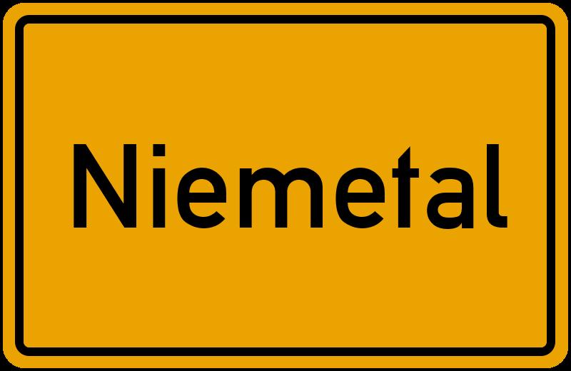 Ortsschild Niemetal