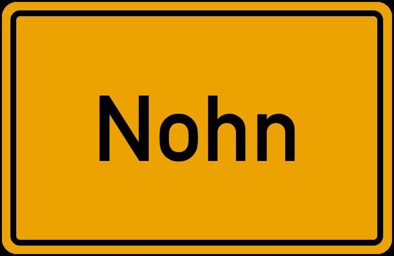 Ortsschild Nohn