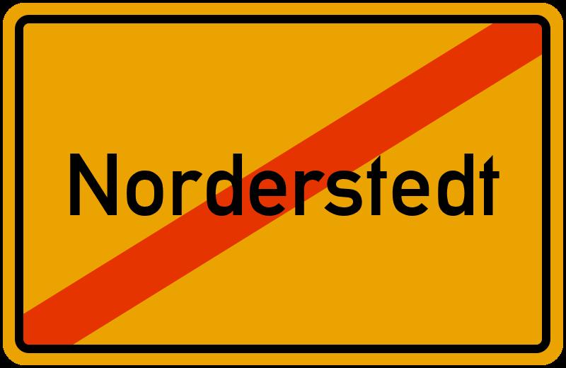 Ortsschild Norderstedt