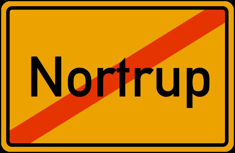 Ortsschild Nortrup