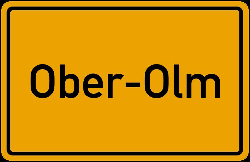 Ortsschild Ober-Olm