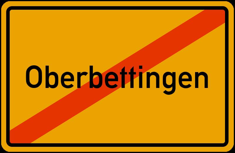 Ortsschild Oberbettingen