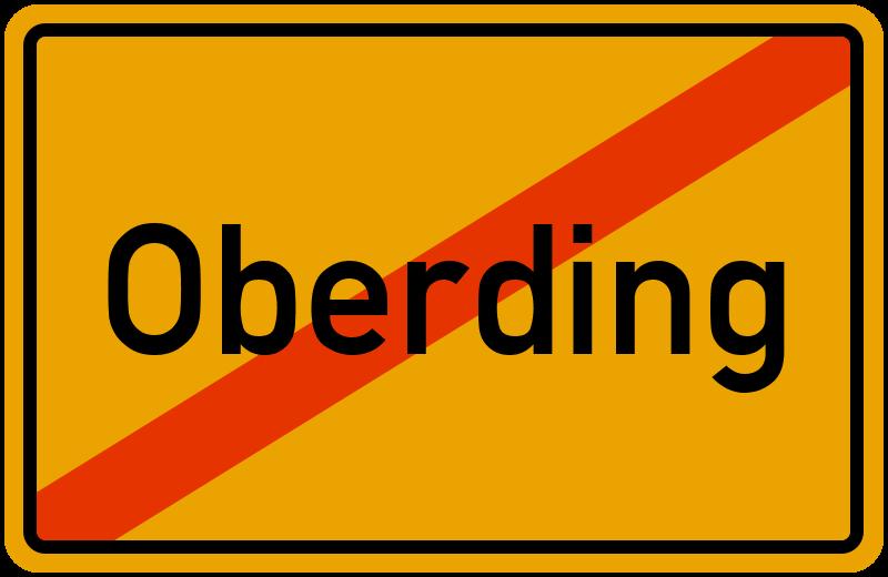 Ortsschild Oberding