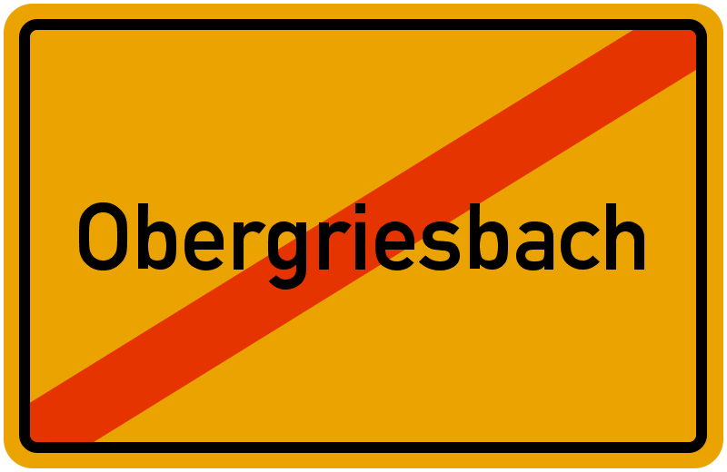 Ortsschild Obergriesbach