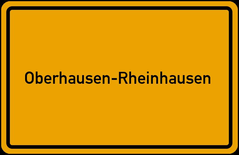 Ortsschild Oberhausen-Rheinhausen