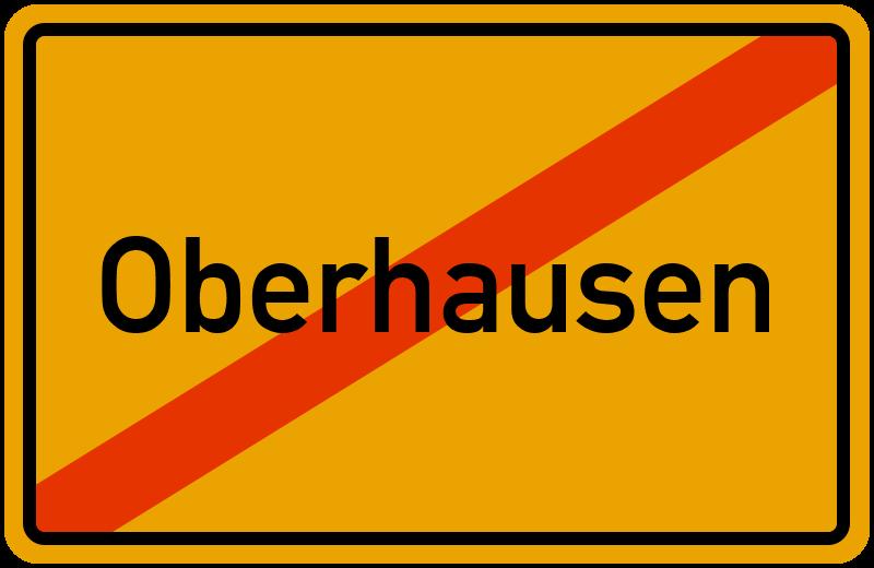 Ortsschild Oberhausen