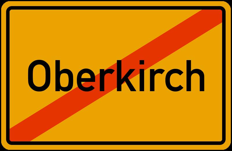 Ortsschild Oberkirch