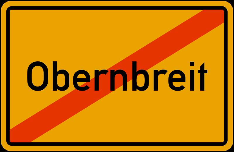 Ortsschild Obernbreit
