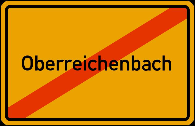 Ortsschild Oberreichenbach