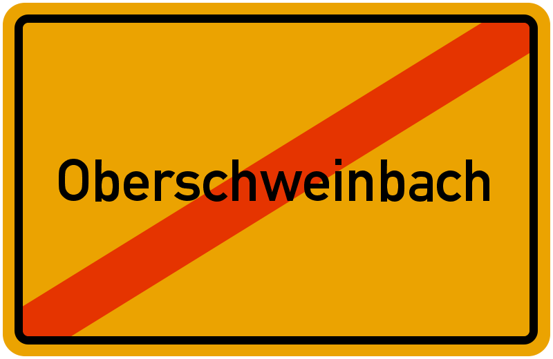 Ortsschild Oberschweinbach