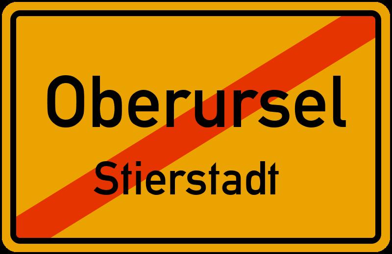 Ortsschild Oberursel Stierstadt Kostenlos Download Drucken
