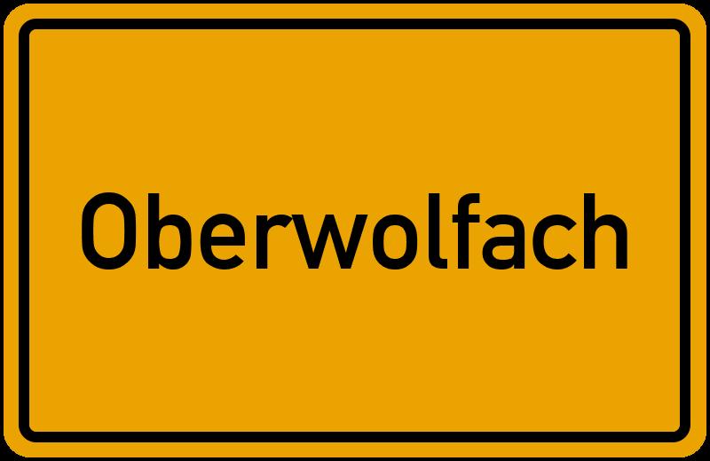 Ortsschild Oberwolfach
