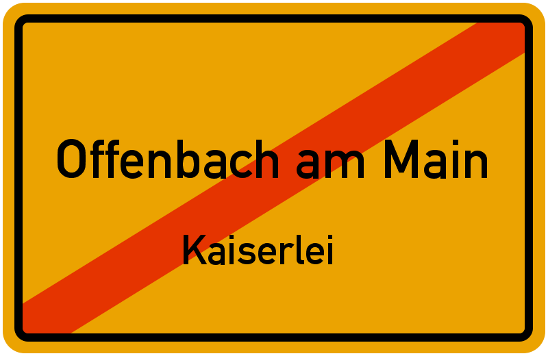 Ortsschild offenbach am main kaiserlei kostenlos download for Werbeagentur offenbach am main