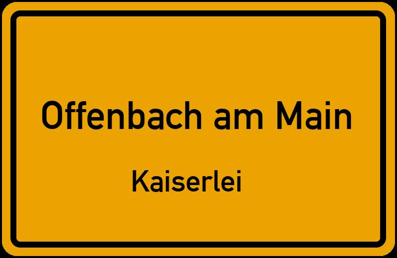 Ortsschild Offenbach am MainKaiserlei kostenlos Download