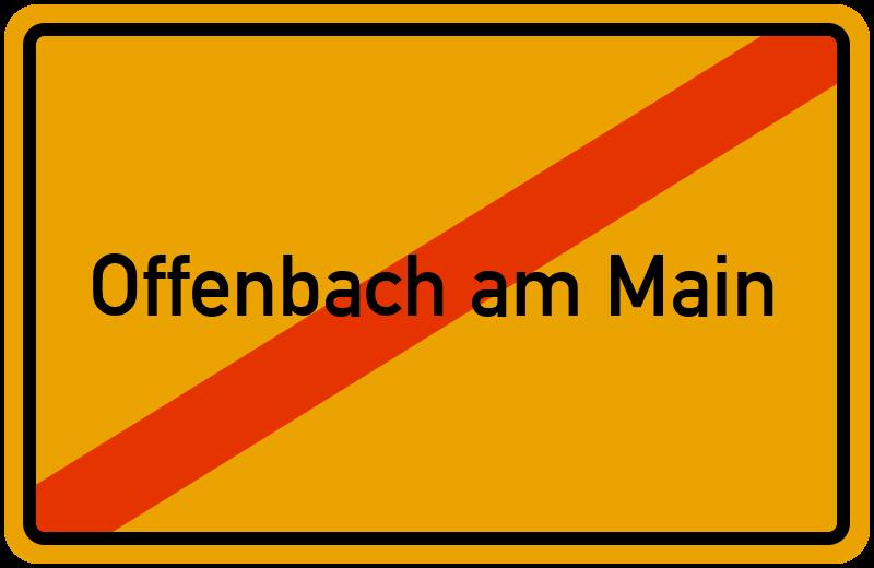 Ortsschild Offenbach am Main