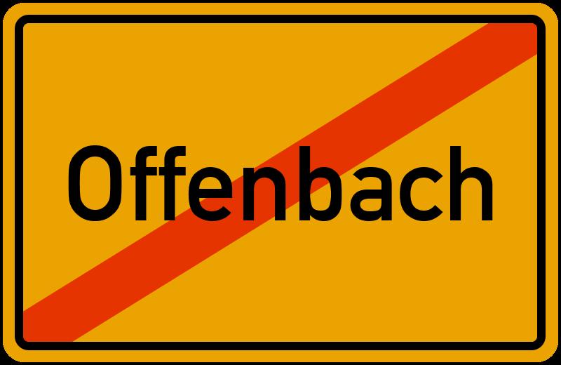 Ortsschild Offenbach