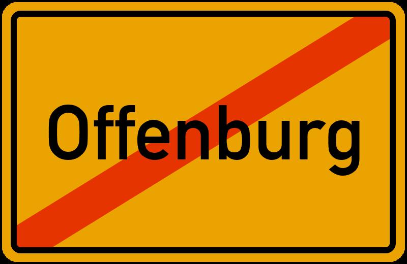 Ortsschild Offenburg
