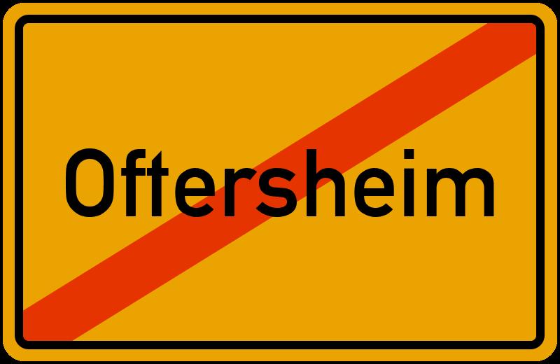 Ortsschild Oftersheim