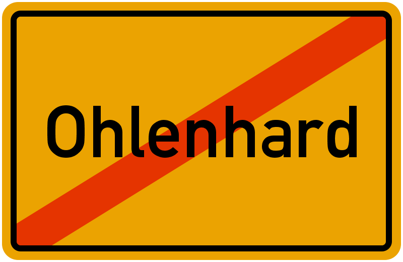 Ortsschild Ohlenhard