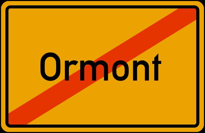 Ortsschild Ormont