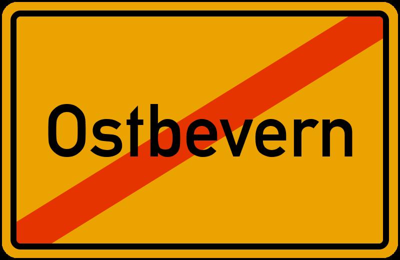 Ortsschild Ostbevern