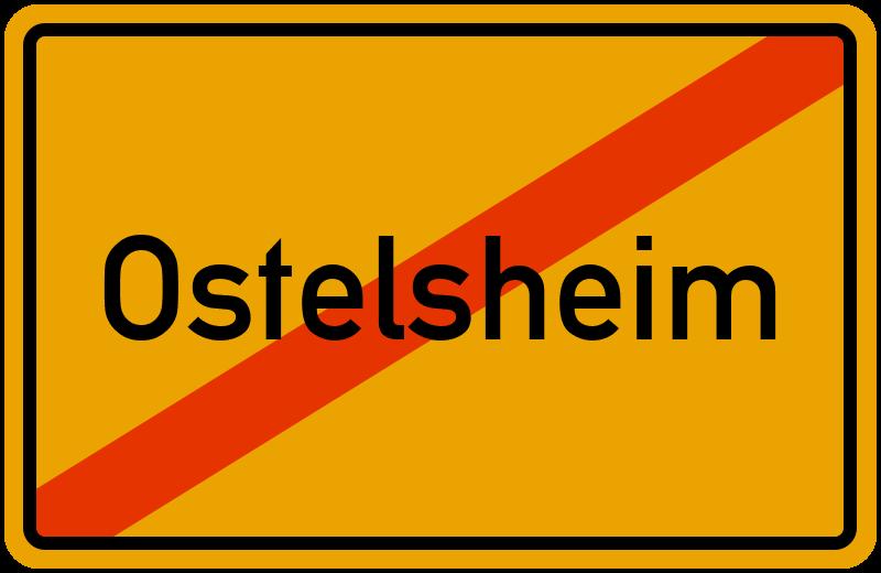 Ortsschild Ostelsheim