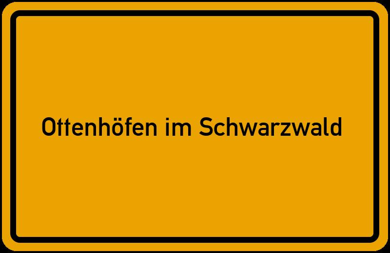 Ortsschild Ottenhöfen im Schwarzwald