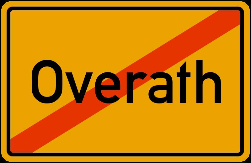 Ortsschild Overath