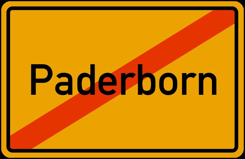 Ortsschild Paderborn