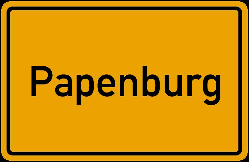 Ortsschild Papenburg