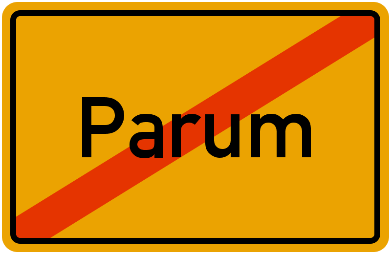 Ortsschild Parum