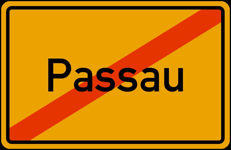 Ortsschild Passau