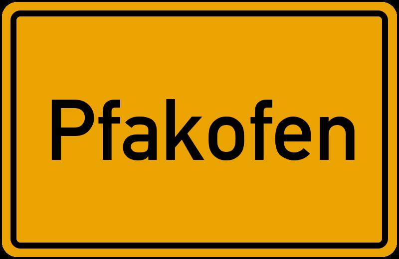 onlinestreet Branchenbuch für Pfakofen