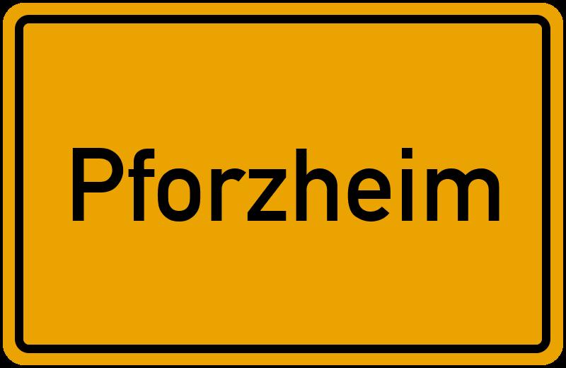 Ortsschild Pforzheim
