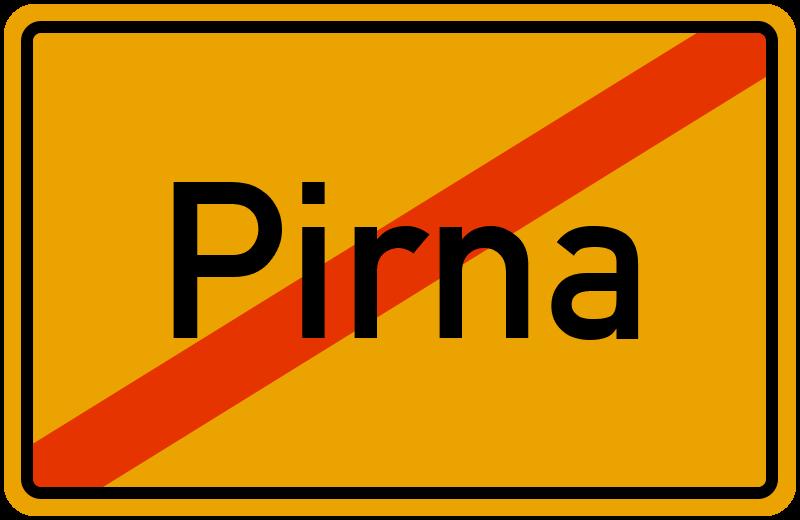 Ortsschild Pirna