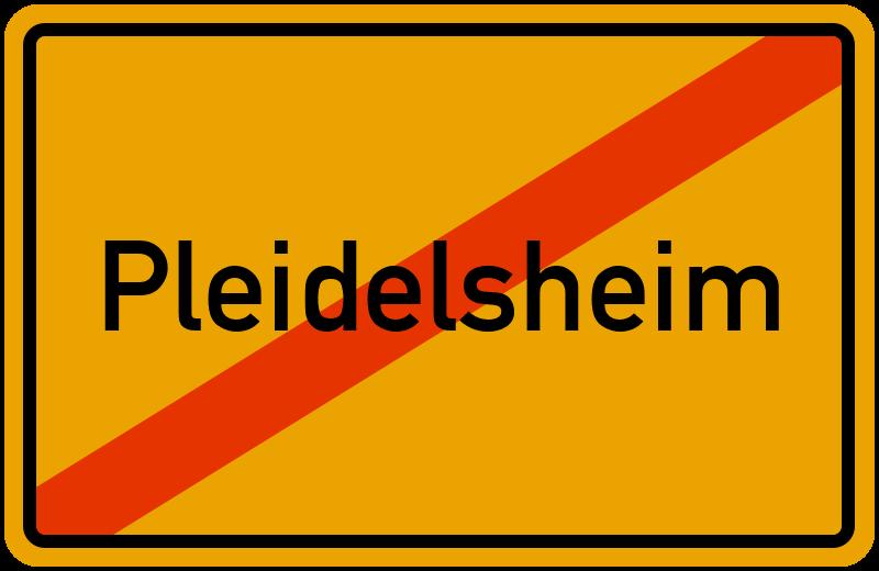 Ortsschild Pleidelsheim