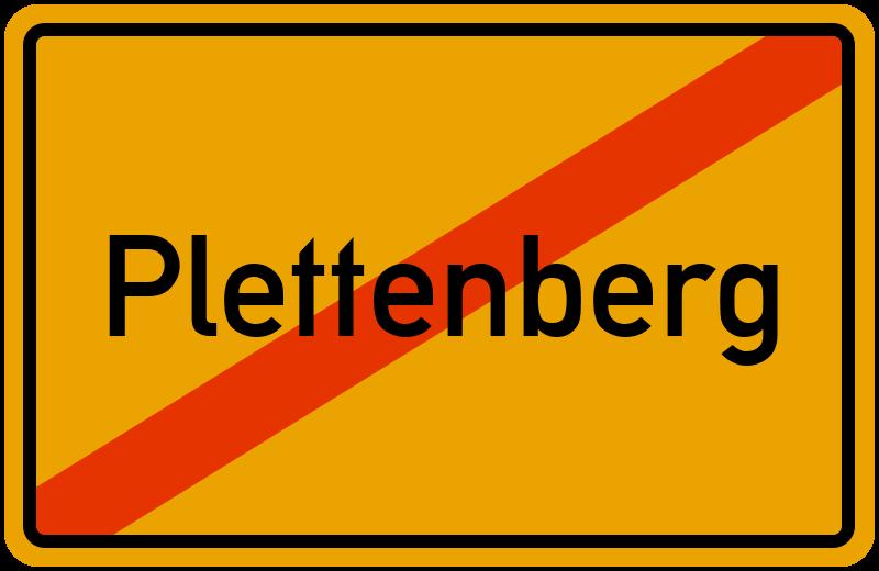 Ortsschild Plettenberg