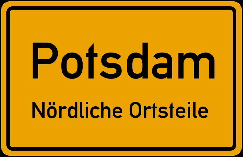 Ortsschild Potsdam