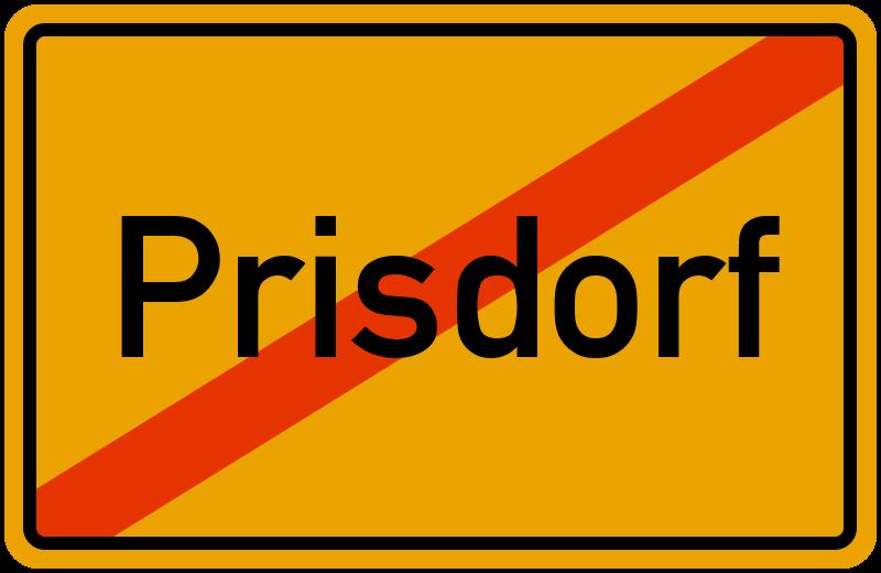 Ortsschild Prisdorf