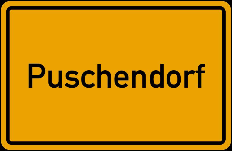Ortsschild Puschendorf