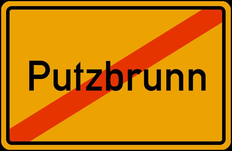 Ortsschild Putzbrunn